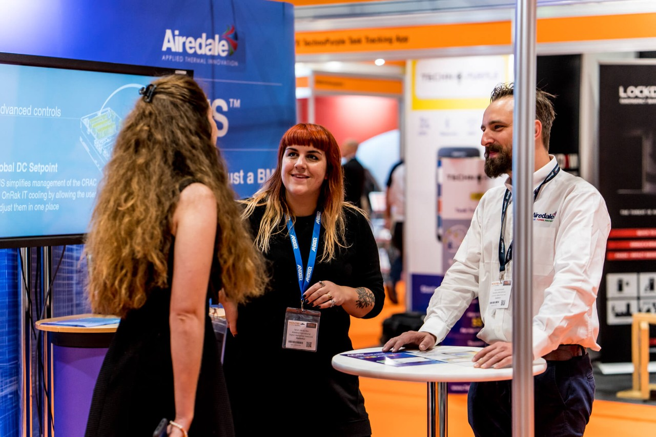 Visitors meeting exhibitors at Facilities Show 2019